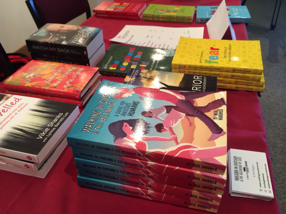 My book on sale with the others at the TED conference!