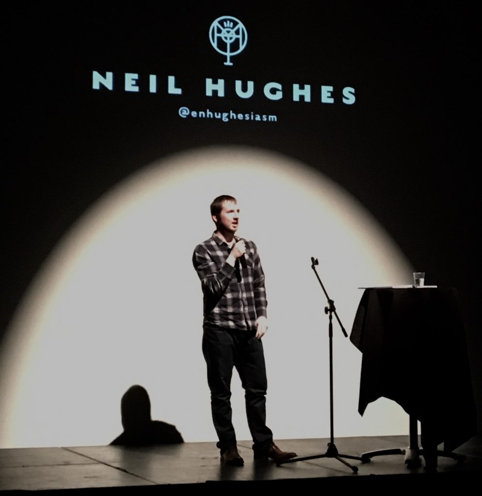 Neil Hughes speaking at OneTrackMinds, October 2016