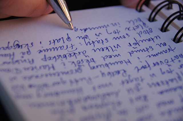 diary writing by freddie boy, on Flickr; how to write a book